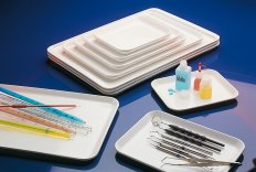 Instrument trays, Melamin, white