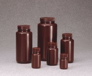 Nalgene®  Amber Wide Mouth Bottles, PEHD
