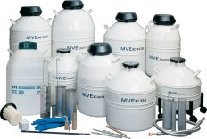 Chart Biomedical  Nitrogen Tanks with round immersion canister