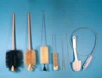 Brushes, natural bristles and nylon