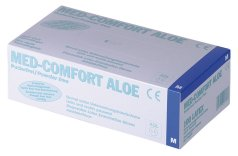 MED COMFORT® ALOE Latex Examination Gloves
