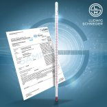 Ludwig Schneider  Accurate Laboratory Thermometers, Enclosed Scale, with DAkkS Calibration Certificate