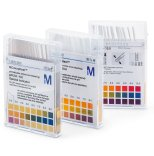 pH indicator strips (non-bleeding)