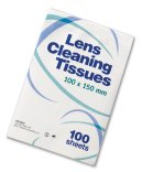 Lens cleaning tissues