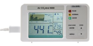 AirControl 5000 CO2 instrument with data logger