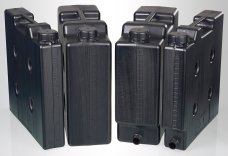 Compact jerrycan set, electroconductive